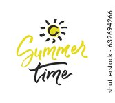 summer time postcard. sun... | Shutterstock .eps vector #632694266
