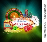 icons set of gambling in las... | Shutterstock .eps vector #632700632