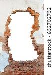 hole brick wall | Shutterstock . vector #632702732