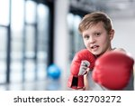 Portrait Of Young Boy Boxer In...