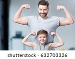 boy with young man  his trainer ... | Shutterstock . vector #632703326