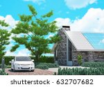 ecologic luxury house and... | Shutterstock . vector #632707682