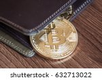 Stock photo bit coin in the wallet 632713022