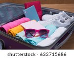 travel and vacations concept.... | Shutterstock . vector #632715686