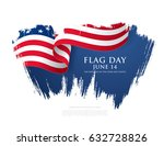 flag day in the united states ... | Shutterstock .eps vector #632728826