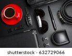 man accessories in business... | Shutterstock . vector #632729066