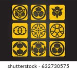japanese patterns and symbols | Shutterstock .eps vector #632730575