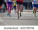 legs of people running marathon   Shutterstock . vector #632730746