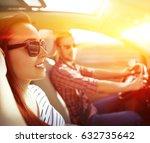 summer car trip  | Shutterstock . vector #632735642