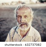 old man portrait | Shutterstock . vector #632737082