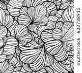 black and white vector abstract ...   Shutterstock .eps vector #632738912