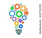 creative mechanism of... | Shutterstock .eps vector #632741252