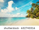 tropical sand beach | Shutterstock . vector #632743316
