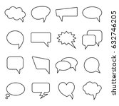 vector speech bubbles in line... | Shutterstock .eps vector #632746205
