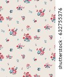 seamless ditsy floral pattern... | Shutterstock .eps vector #632755376