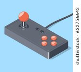 retro joystick gamepad icon.... | Shutterstock .eps vector #632756642