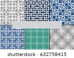 set of geometric vector... | Shutterstock .eps vector #632758415