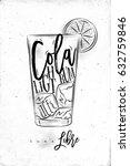 cuba libre cocktail lettering... | Shutterstock .eps vector #632759846