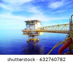 offshore construction platform... | Shutterstock . vector #632760782
