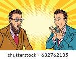 two elegant retro businessman... | Shutterstock .eps vector #632762135