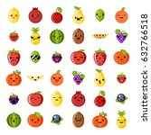 Cute Emoji Smile Fresh Fruit...
