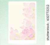 vector greeting card with... | Shutterstock .eps vector #632772212
