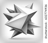 volume geometric shape  3d... | Shutterstock .eps vector #632774936