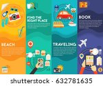 time for travel concept... | Shutterstock .eps vector #632781635