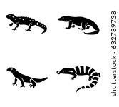 lizards vector icons | Shutterstock .eps vector #632789738