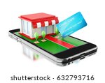 3d illustration. smartphone... | Shutterstock . vector #632793716