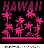 vintage tropical graphic.... | Shutterstock .eps vector #632795678