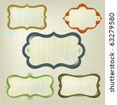 retro inspired grunge frames. ... | Shutterstock .eps vector #63279580