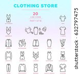 online store outline icon set...
