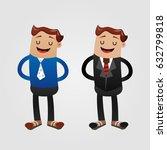 businessman dressed in black... | Shutterstock .eps vector #632799818