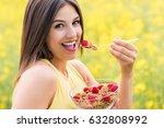 close up face shot of... | Shutterstock . vector #632808992