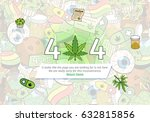 medicinal cannabis recreational ... | Shutterstock .eps vector #632815856