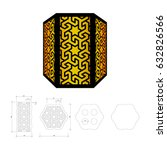 cut out template for lamp ... | Shutterstock .eps vector #632826566