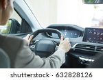 business woman driving her new  ... | Shutterstock . vector #632828126