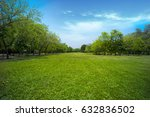beautiful park  with green... | Shutterstock . vector #632836502