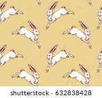seamless pattern with hand... | Shutterstock .eps vector #632838428