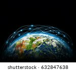 best internet concept of global ... | Shutterstock . vector #632847638