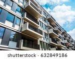 big balconies on an giant... | Shutterstock . vector #632849186
