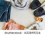 spring summer set  ladies'... | Shutterstock . vector #632849216
