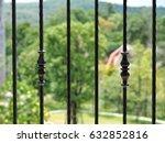 Metal Vintage Fence  Close Up....