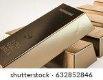 3d illustration of gold bars... | Shutterstock . vector #632852846