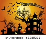 halloween background with... | Shutterstock . vector #63285331