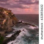 italy  manarola  autumn  2013 | Shutterstock . vector #632853632