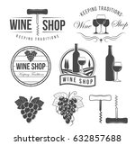 wine objects  accessories and...   Shutterstock .eps vector #632857688
