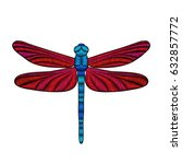 Dragonfly Embroidery. Design...