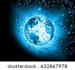 best internet concept of global ... | Shutterstock . vector #632867978